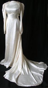 1944 wedding gown