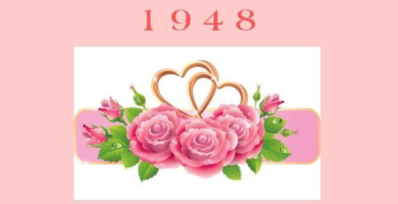 1948 floral banner