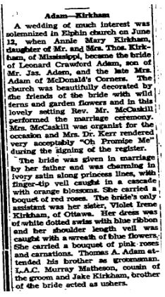 Adams Kirkham 1945