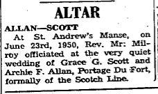 Allan Scott 1950