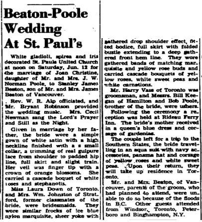 Beaton Poole 1948