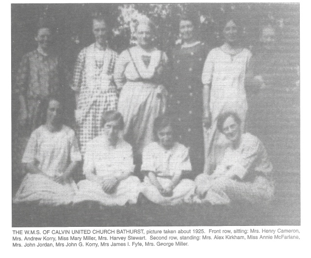 Calvin Church ladies auxiliary