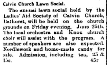 Calvin Church lawn social June 25 1915 p 5