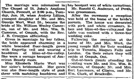 Cameron Wert story 1947