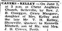 Cavers Kelly 1951