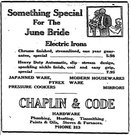 chaplin code irons 1947