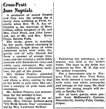 Cross Pratt 1952