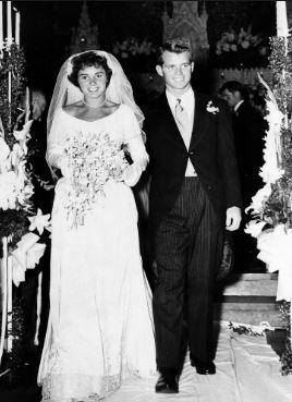 Ethel and Robert Kennedy June 1950