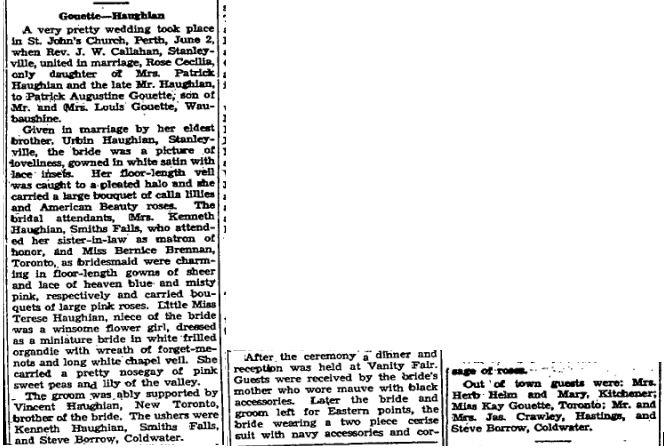 Gouette - Haughian June 2 1945