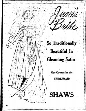 June Brides Shaws 1949