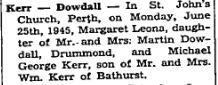 Kerr Dowdall 1945 # 2