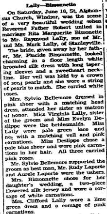 Lally Bisonnette 1945