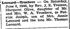 Leonard Truelove 1946