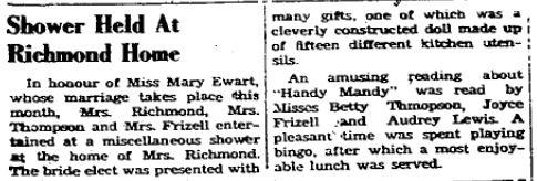 Mary Ewart 1950