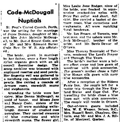 McDougall Code 1955