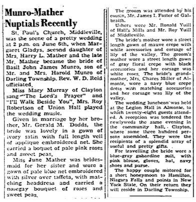 Munro Mather 1952