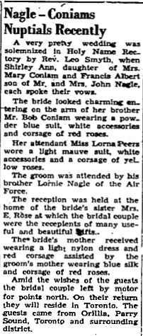 Nagle wedding 1953
