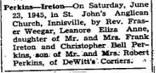 Perkins Ireton 1945