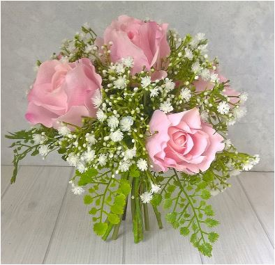 pink roses maidenhair fern