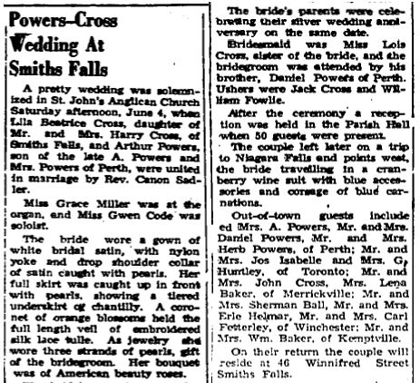 Powers Cross 1949