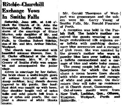 Ritchie Churchill 1960