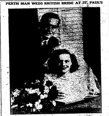 St Paul's wedding 1947