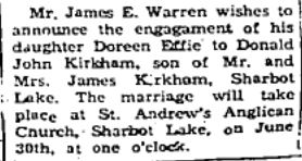 Warren Kirkham 1956