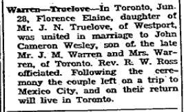 Warren Truelove 1947