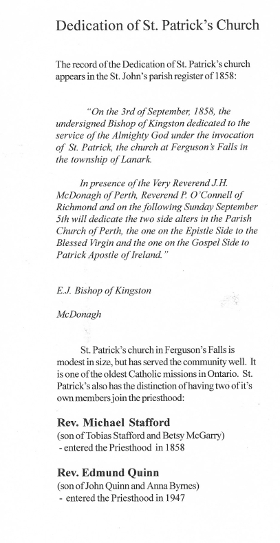 Dedication of St Patrick's Church edited