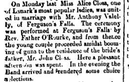 Ferguson Falls Closs and Valely wedding June 29 1894 p 8