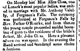 Ferguson Falls Closs and Valely wedding June 29 1894 p 8