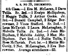 Ferguson Falls honour roll Nov. 13 1896 p 5