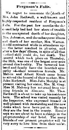 Ferguson Falls obit Rathwell Mar 24 1893 p 1