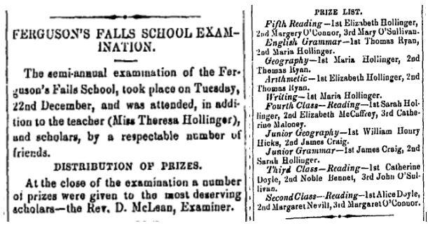 Ferguson Falls school Jan 8 1869 p 3