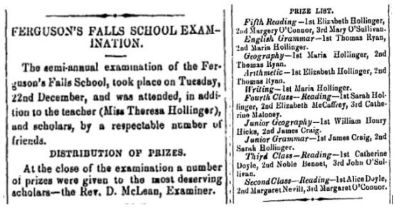 Ferguson Falls school Jan 8 1869 p 3