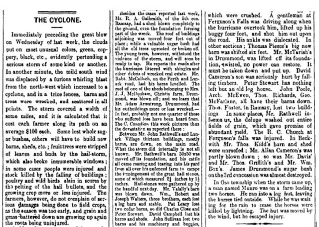 Ferguson Falls Storm 1888 June 15 p 4