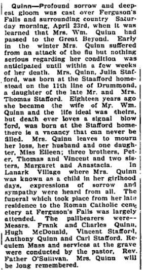 Julia Stafford Quinn Apr. 23 1927