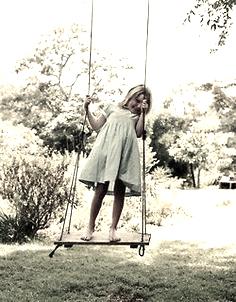 little girl rope swing