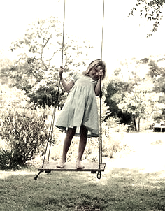 little girl rope swing