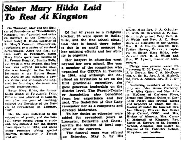 Sister Mary Hilda Quinn