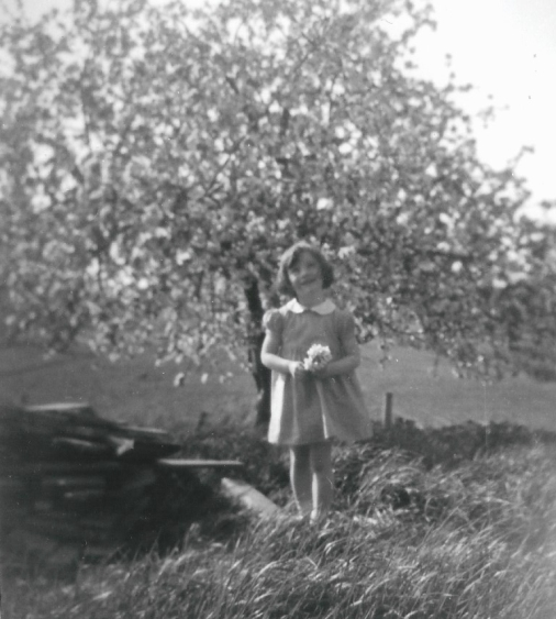 Arlene in the apple orchard