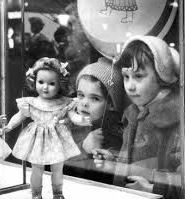 girl at store window
