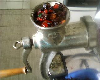 grinding fruit
