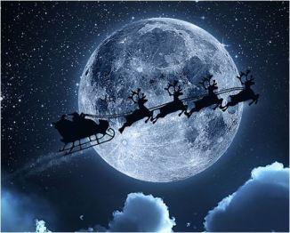 Santa flying