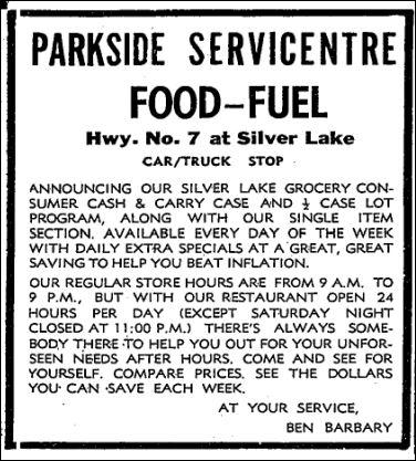 Parkside Service June 5 1975