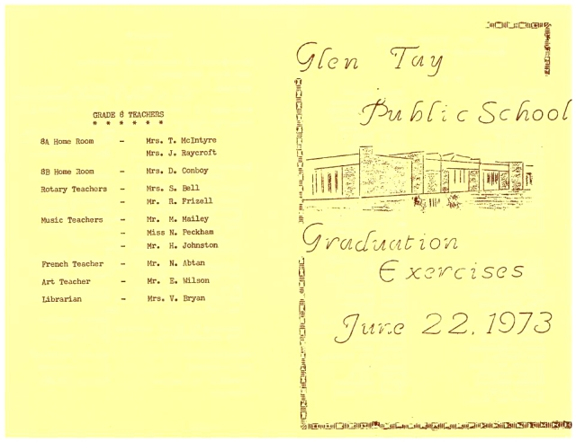 Glen Tay Public School 1973 grad exercises