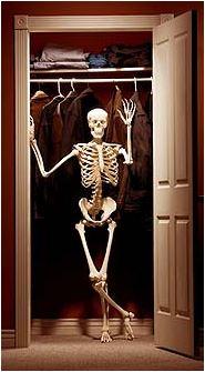 skeletons in closet