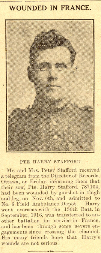 Harry Stafford newscliping