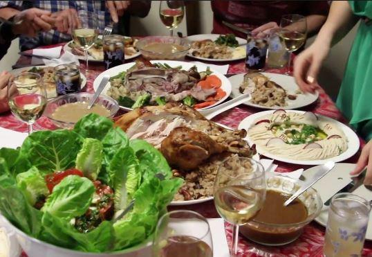 Lebanese Christmas dinner