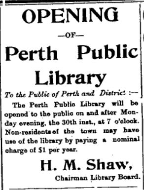 Perth library opening
